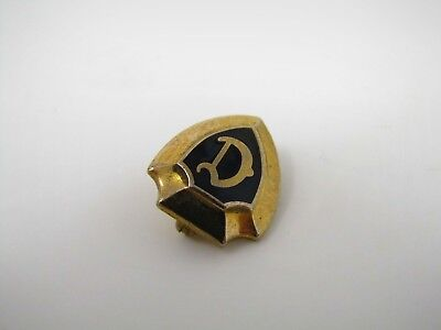 "Vintage Collectible Pin: Letter D ""D"" Calligraphy Nice Quality Shield Design"