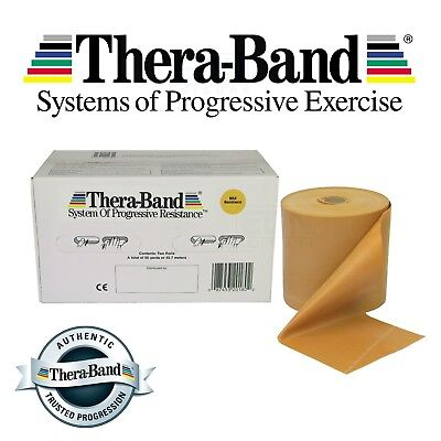 Gold Theraband Resistance Bands Thera Band Exercise Fitness Physio 1 2 3 4 5 10m