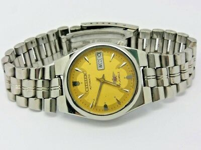 VINTAGE CITIZEN Automatic Day/Date WATCH, Japan made, used. (w-129)
