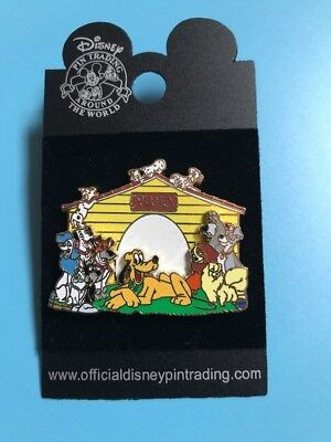 Disney Dogs House Pin Trading  #37986 - Pluto, Dalmatians, Lady, Tramp Kennel