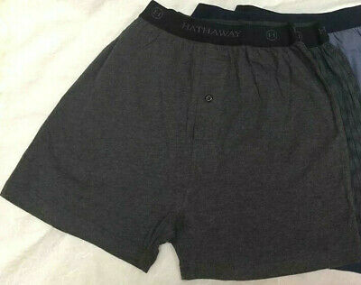 New 2 Pcs Hathaway Mens Knit Boxer short underwear COTTON/SPANDEX~size  M  L  XL
