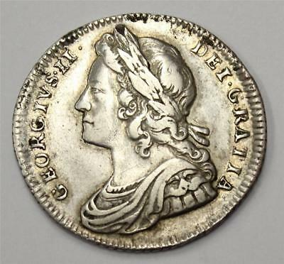 1727 shilling Great Britain roses and plumes S3698 original VF30