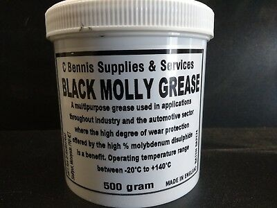Black Molly Premium Molybdenum Grease Lubricant Joints Wheel Bearings 500g