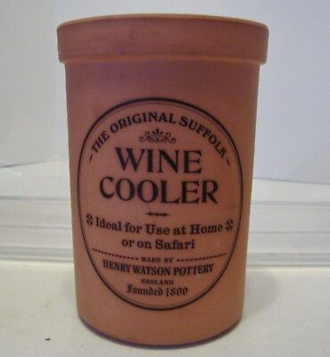 The Original Suffolk Terracotta Wine Cooler Henry Watson Pottery-- England-G53