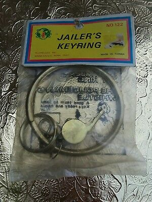 Jailer's Keyring And Policeman Whistle