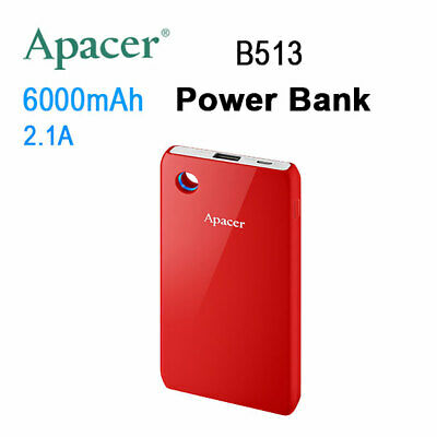 LED APACER Mobile Power Bank B513 6000mAh Red