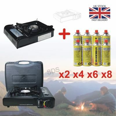 Portable Camping Gas Cooker Single Burner Stove Butane BBQ Carry Bag Outdoor