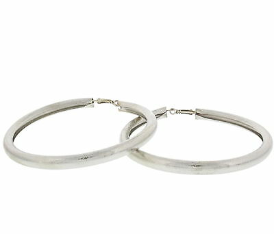 Zac's Alter Ego® Gold & Silver 9.7cm Cracked Metal Finish Large Hoops Earrings