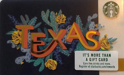 LOT of Four RARE or Hard to Find 2018 Starbucks Texas Gift Card