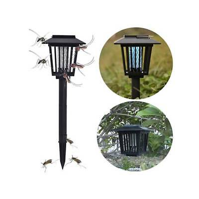 Solar Powered Mosquito Fly Insect Zapper Killer Trap Lamp Light Outdoor Garden