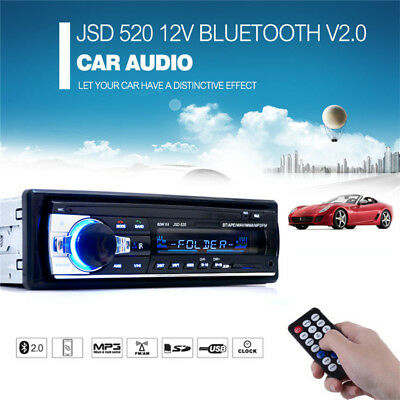 Car Bluetooth Stereo Audio Radio MP3 Player CD Auto FM Card Input Receiver USB