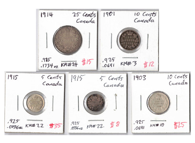 CANADA Silver Coin Lot: Collection of Better Canadian Silver Coins