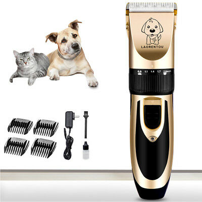 Professional Dog Grooming Kit Rechargeable Pet Cat Hair Trimmer Clipper Shaver