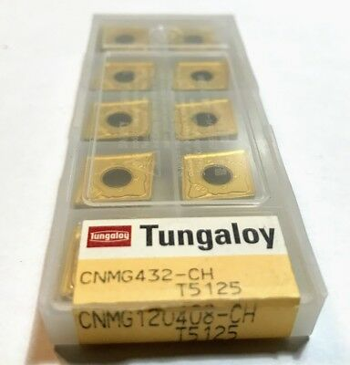 10 pcs NEW, UNOPENED TUNGALOY INSERTS CNMG432-CH  T5125