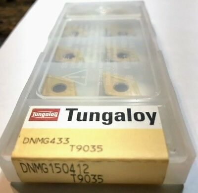 10 pcs NEW, UNOPENED TUNGALOY INSERTS DNMG433-AR T9035