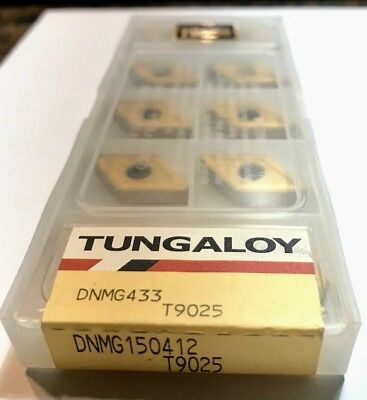 10 pcs NEW, UNOPENED TUNGALOY INSERTS DNMG433-AR T9025