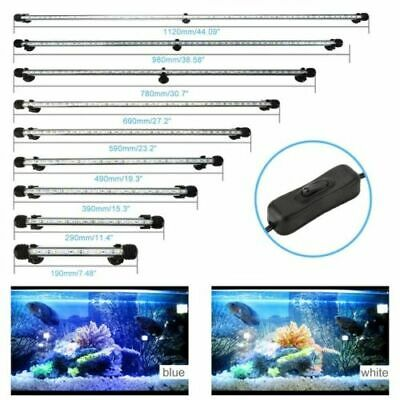 LED Aquarium Lights Submersible Glass Strip Bar Light Fish Tank Underwater Lamp