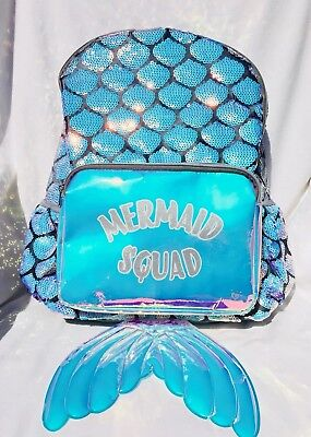 Justice Mermaid Squad With Mermaid Tail Backpack NWT Very Cute!