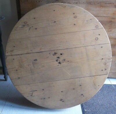 """PULLEY WHEEL INDUSTRIAL WOOD Table TOP Salvaged Pulley 38"""" Wooden Table Top"""