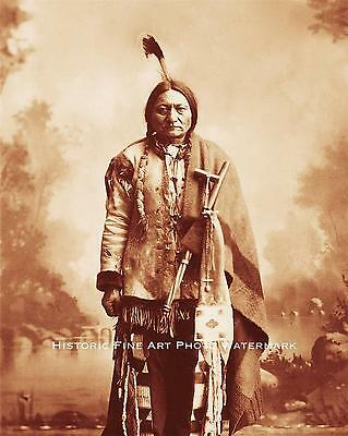 SIOUX INDIAN CHIEF SITTING BULL VINTAGE PHOTO NATIVE AMERICAN 8x10 #21679