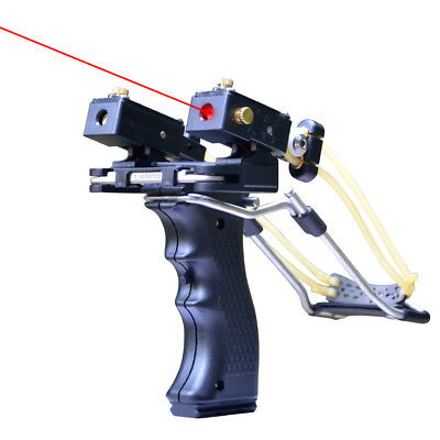 Tirachinas Achery Stainless Caza Catapults Slingshot Red Laser Precise ES