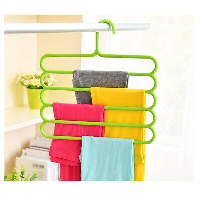 S Shape Trousers Pants Hangers Scarf Towel Rack Hanger Closet Organizer Space FS