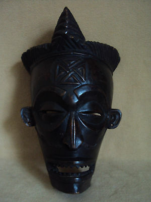 SALE - WAS $229 ROYAL CHOKWE MASK Headdress African Carving!!