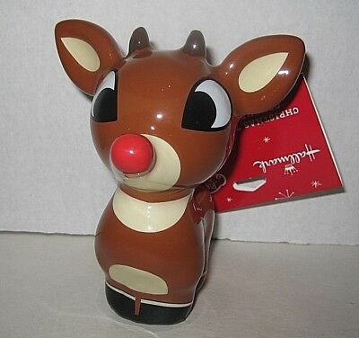"""Rudolph The Red Nose Reindeer Christmas Ornament 4"""" Resin New w/tags Free Shp"""