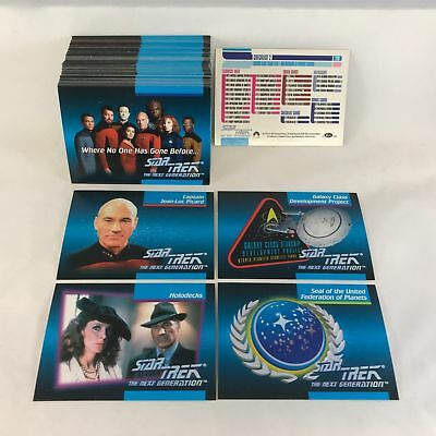 Star Trek - The Next Generation TNG - Complete Trading Cards SET (120) 1992 - NM