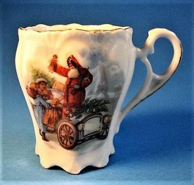 Extremely Rare Antique Child's Christmas Chocolate!   Santa In A Roadster!