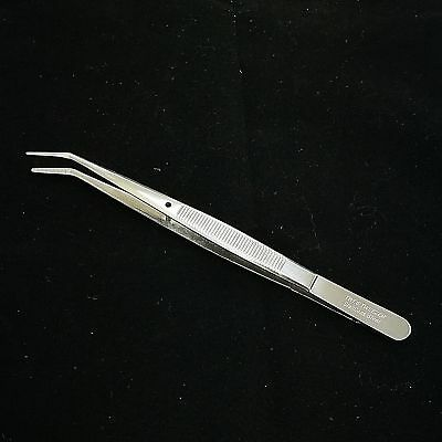 "Superior Quality Bent Tweezer with Pin & Teeth on Mouth 6"" TWE6"