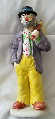 """Vintage Flambro Emmett Kelly Jr Collection Clown Figurine """"SWEEPING UP"""""""