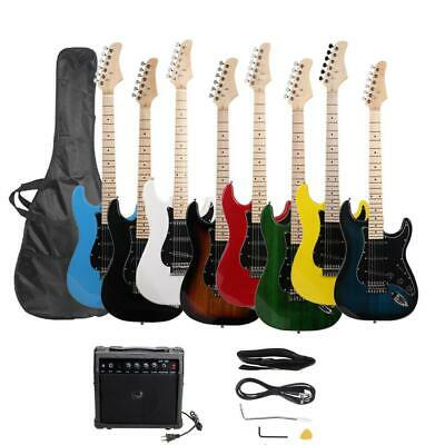 8 Colors ST Burning Fire Practice Beginner Electric Guitar Set w/ Bag AMP
