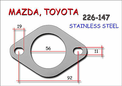 STAINLESS STEEL UNIVERSAL EXHAUST FLANGE 56mm - Thickness 8mm MAZDA TOYOTA Type