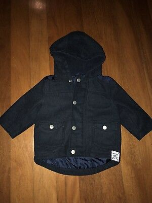Pumpkin Patch Baby Coat 6-12months Navy Jacket
