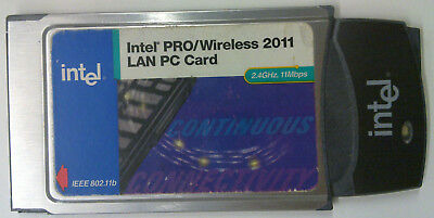 Intel PRO/Wireless 2011 LAN PC Card 2.4GHz, 11Mbps IEEE802.11b