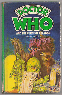 VERY RARE: HB Doctor Who and The Curse of Peladon. Unique cover. Target Books.