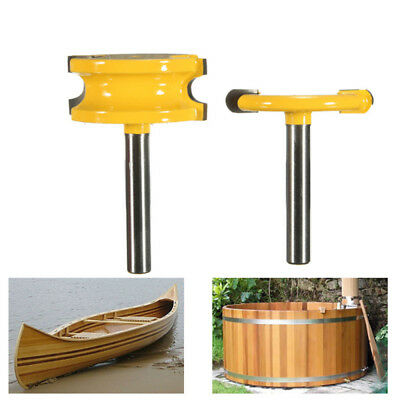 2Pcs 1/4'' Shank 1/4'' Dia Canoe Flute and Bead Router Bit Woodworking Cutter UK