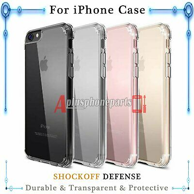 Clear Soft Case Silicone TPU Gel Skin Cover For iPhone X 7 Plus 6 6S Plus 5S SE