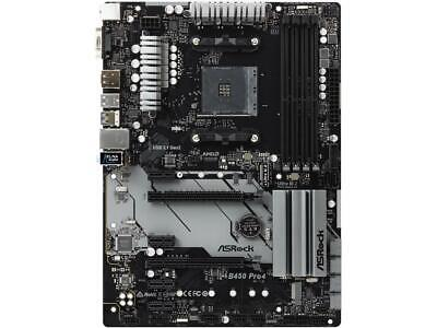ASRock B450 PRO4 AM4 AMD B450 SATA 6Gb/s USB 3.1 HDMI ATX AMD Motherboard