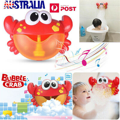 Crab Bubble Machine Musical Bubble Maker Bath Baby Toy Bath Shower Fun LG
