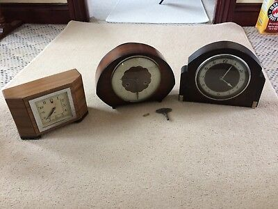 Vintage Mantel Clocks - Smiths Movement / Sec Electric / Bentina Spares Repairs