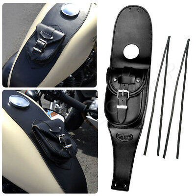 Waterproof Leather Tank Cover Panel Pad Pouch Bag For Harley Sportster 883 1200