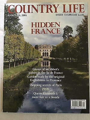 Country Life Magazine. March 20, 2003. Hidden France.