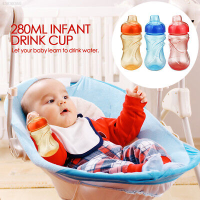 9FD6 3 Colors Sippy Water Bottle Milk Drink Duckbill Portable Infant Cup