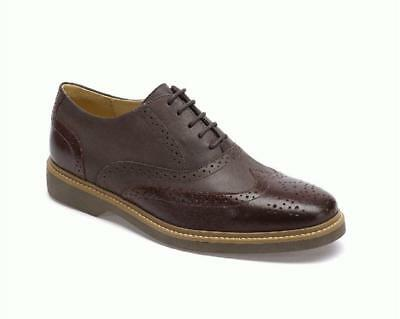 Anatomic Pilar Mens Burgundy Two Tone Leather Brogues