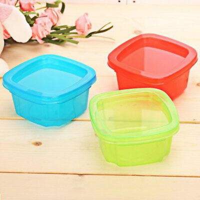 Mini Baby Food Storage Container Snack Feeding Box Portable Solid 3 Colors