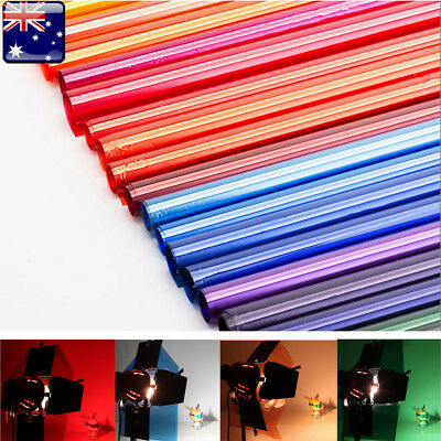 【AU】 40x50cm Colors Lighting Filter Gel Sheets For Camera Studio Lamp Light