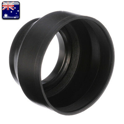 【AU】 55 58 62 67 72 77mm Rubber Lens Hood 3 Stage Collapsible For Canon Sony