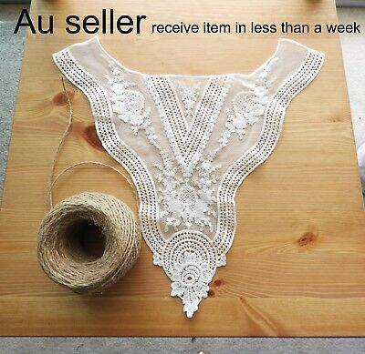 Neckline Goddess Embroidered Applique Lace Trim Bridal Dress Elegant Neck Collar